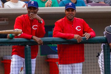 Barry Larkin, Eric Davis, Shed Long, Chadwick Tromp